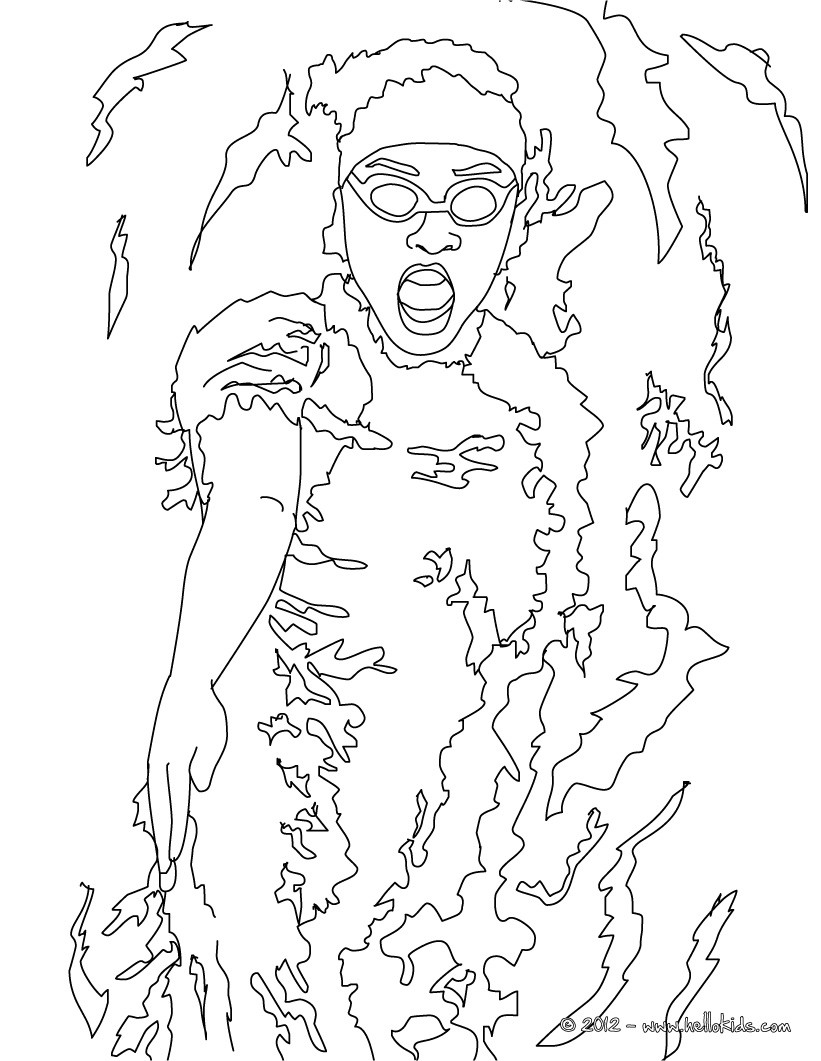 swimming coloring pages swimming