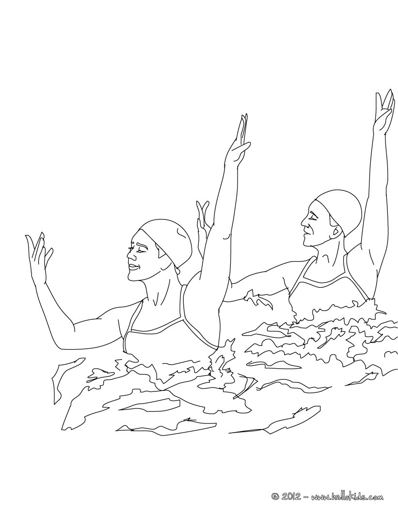 swimming coloring pages team technical routine synchronized swimming