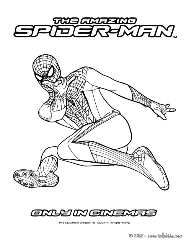 The amazing spider man for kids coloring pages - Hellokids.com