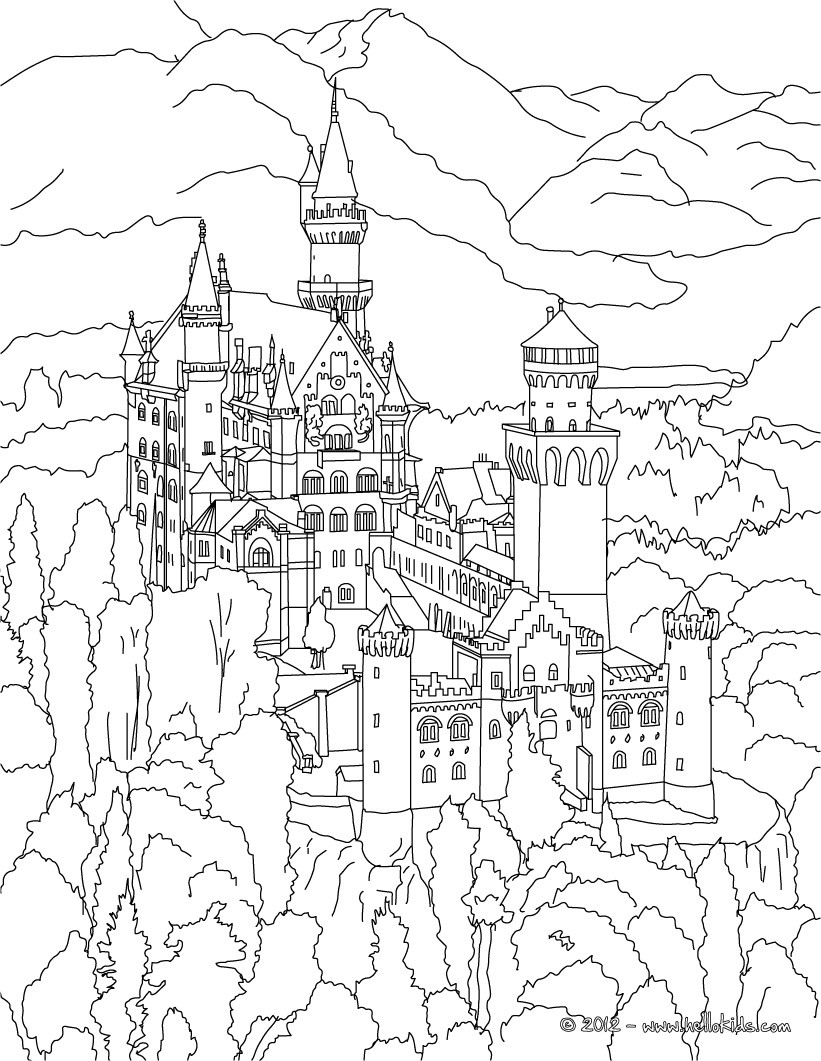 famous places in germany coloring pages neuschwanstein castle