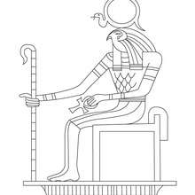 Free Egyptian God Coloring Pages, Download Free Clip Art, Free ... | 220x220