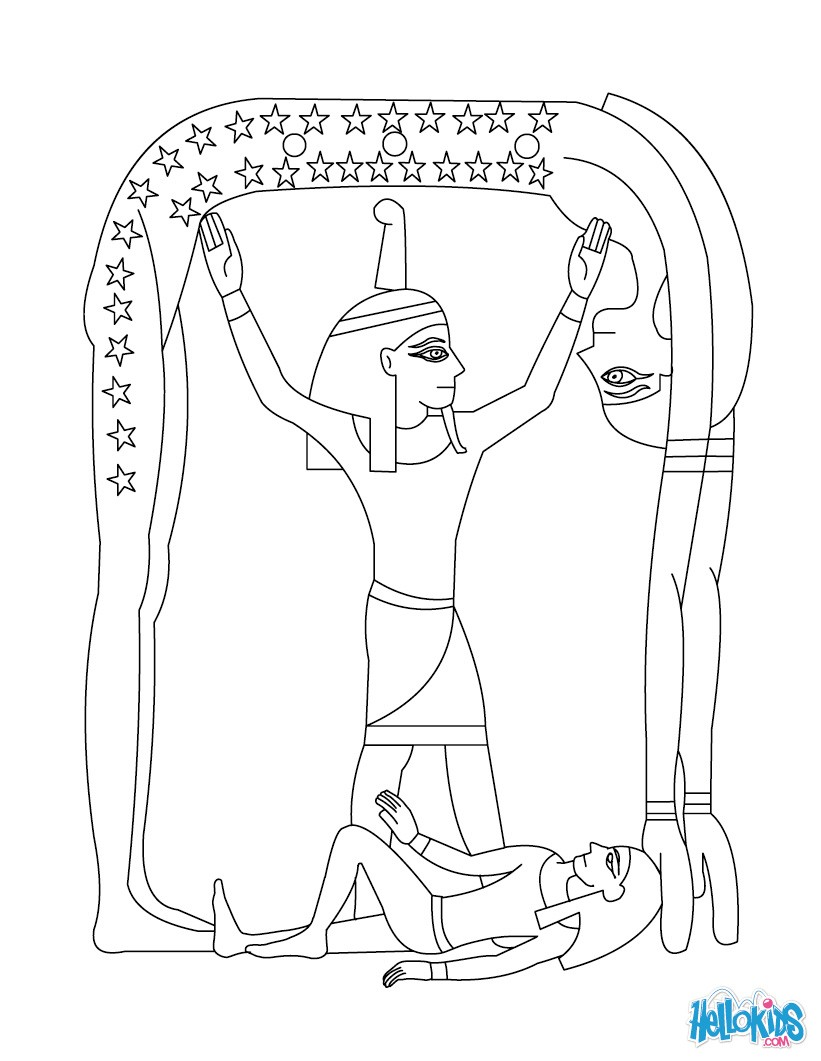 Printable Egyptian Drawing Egypt Coloring In Pages For Teenagers ... | 1061x821