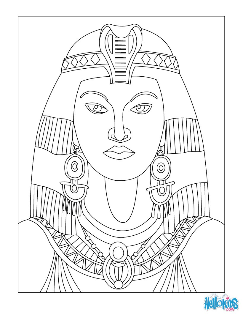 pharaoh coloring pages egyptian sarcophagus