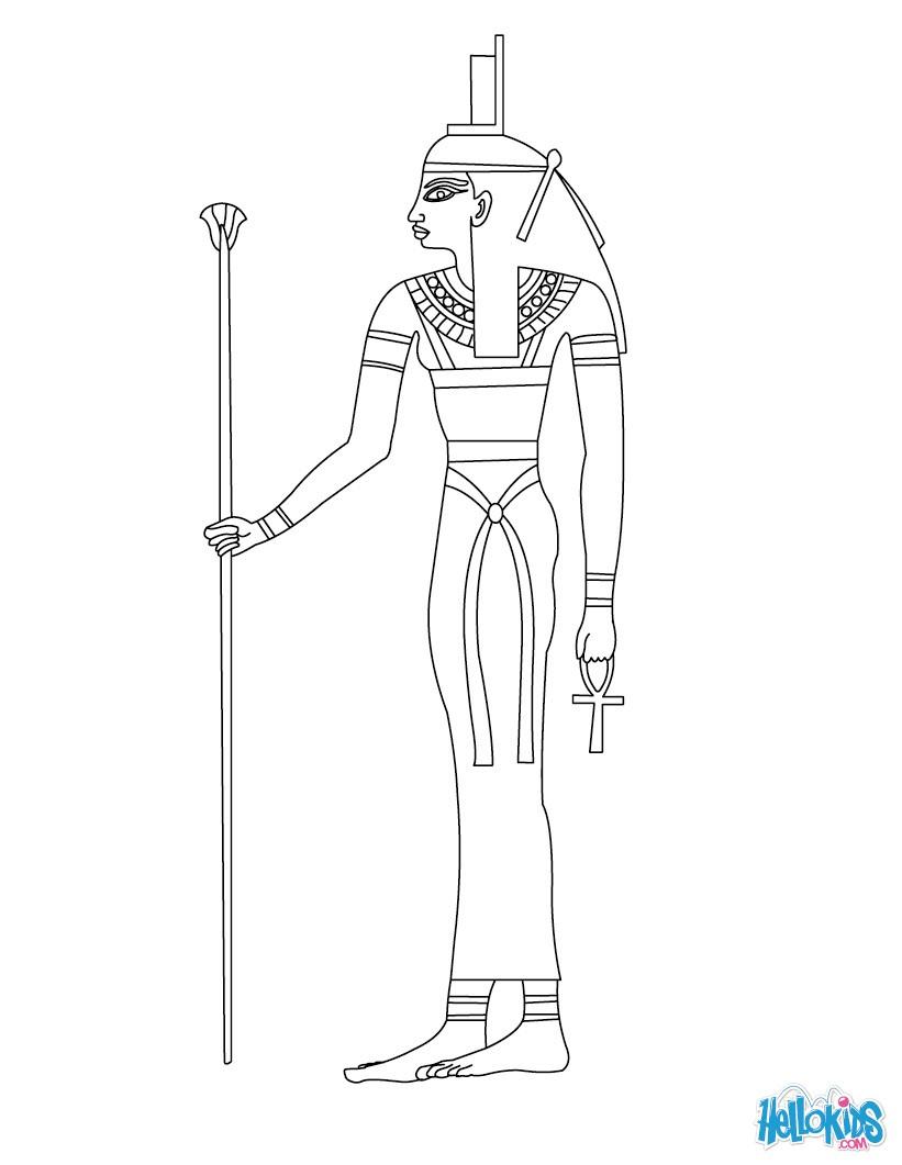 Horus egyptian god coloring pages - Hellokids.com | 1061x821