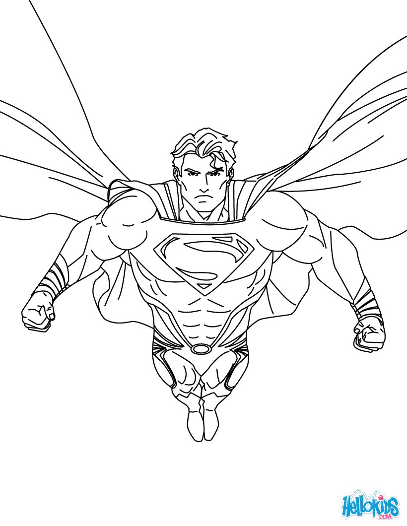 superman coloring pages superman printing and drawing