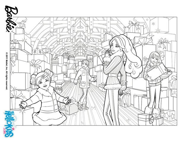barbie in a perfect christmas coloring pages barbie with her sisters