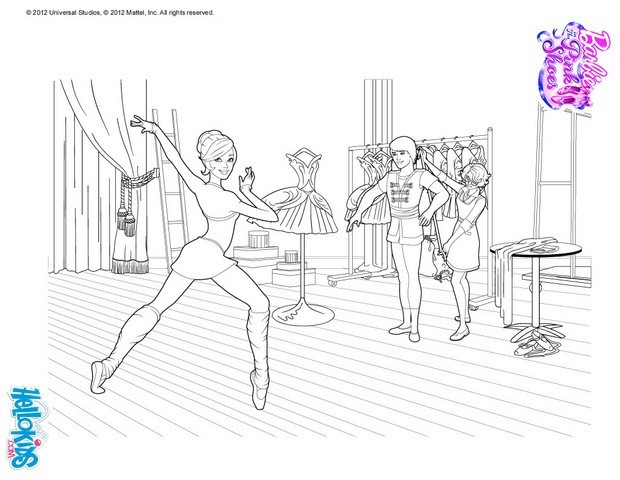 barbie in the pink shoes coloring pages ballerina kristyn is