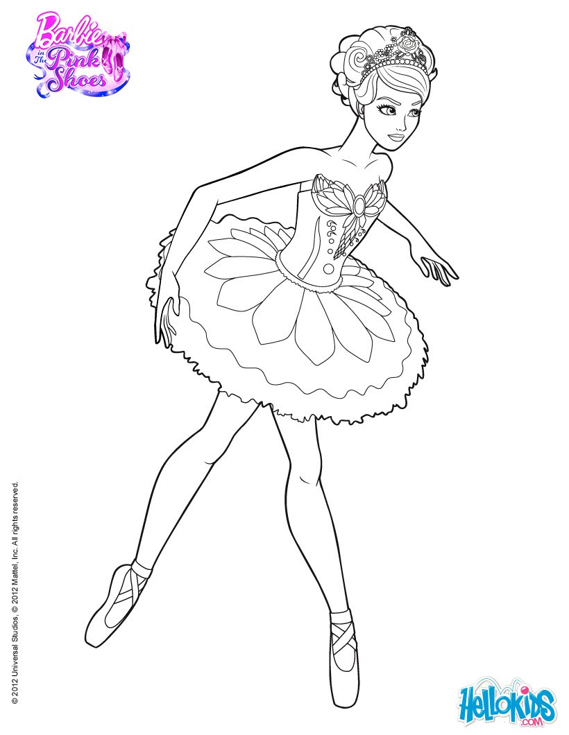 barbie in the pink shoes coloring pages 29 online mattel dolls
