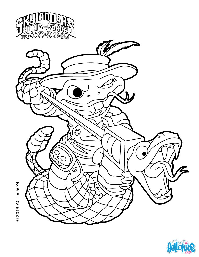 Skylanders Swap Force Coloring Pages 52 Free Online Printables
