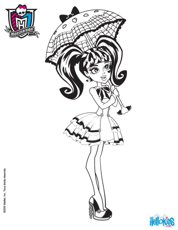 draculaura coloring pages # 25