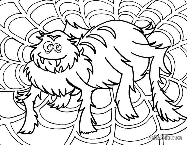 spider coloring pages hair raising spider