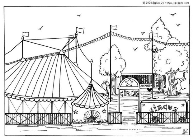 circus coloring pages big top