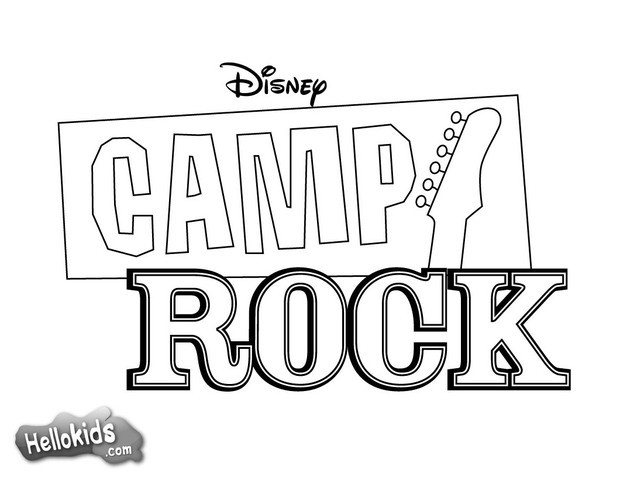 camp rock poster coloring page
