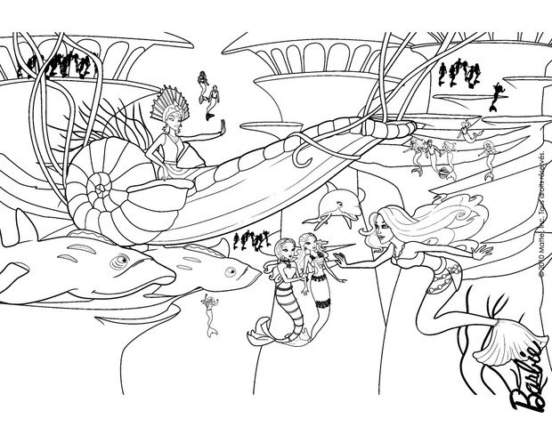 barbie in a mermaid tale coloring pages eris on her submarine coach