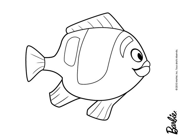 barbie in a mermaid tale coloring pages magic fish of oceana free
