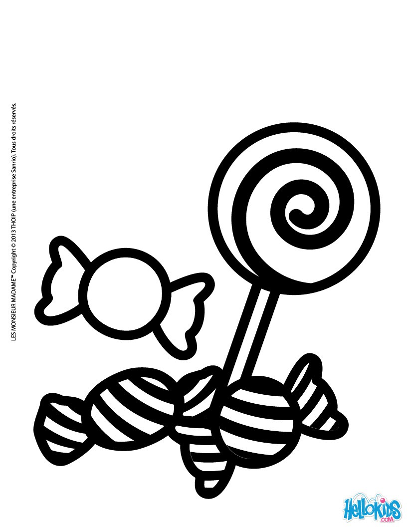 sweets and candies coloring pages  hellokids