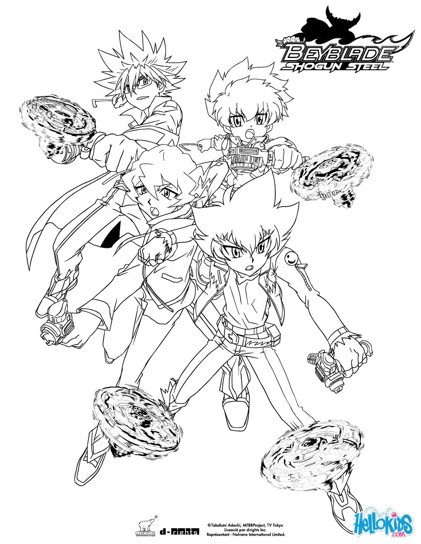 beyblade team coloring pages  hellokids