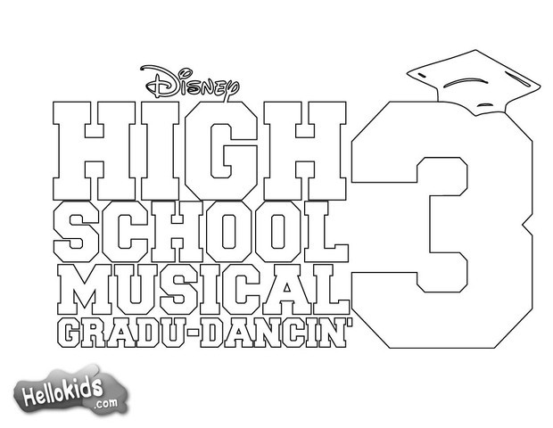 High School Musical Coloring Pages To Print