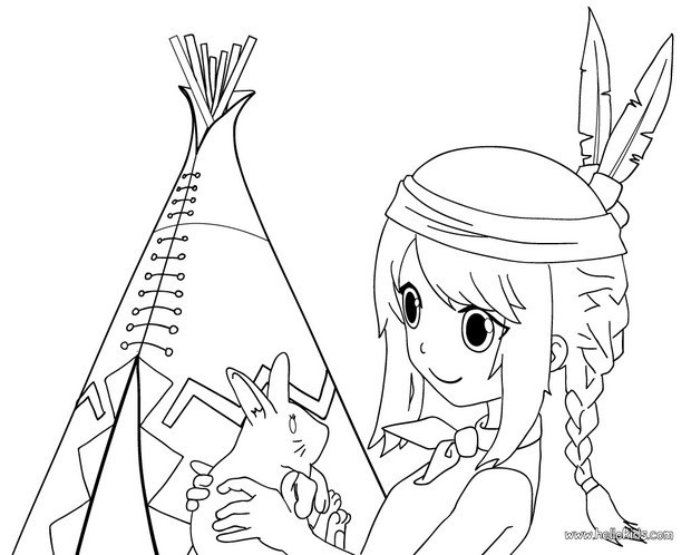 indian coloring pages indian girl