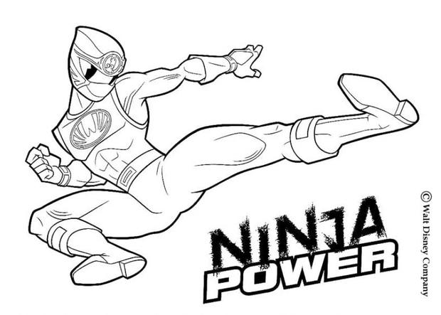 power rangers coloring pages ninja power rangers
