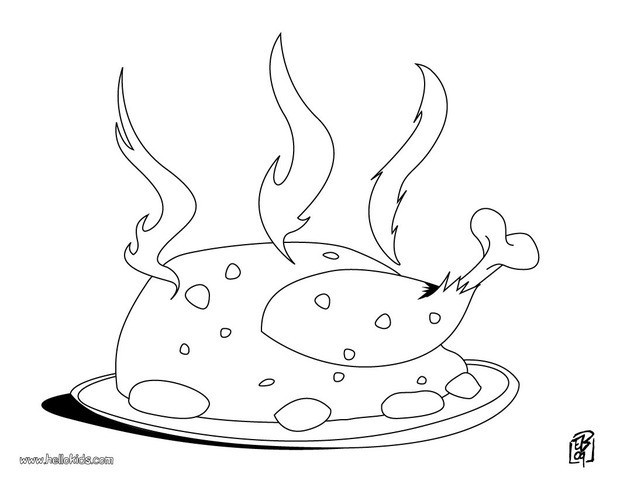 cooking coloring pages roost chicken