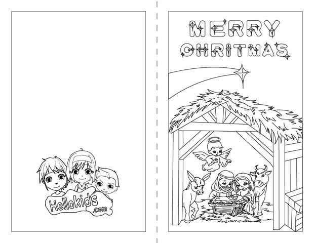 merry pages nativity scene