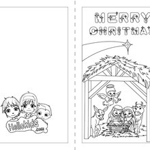 christmas card coloring pages # 3