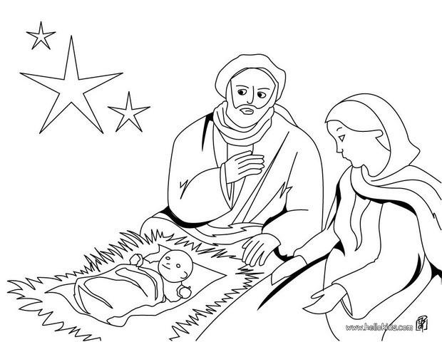 christmas crib joseph mary and