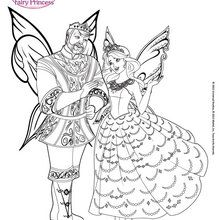 coloring pages kids fairy tale king queen # 25