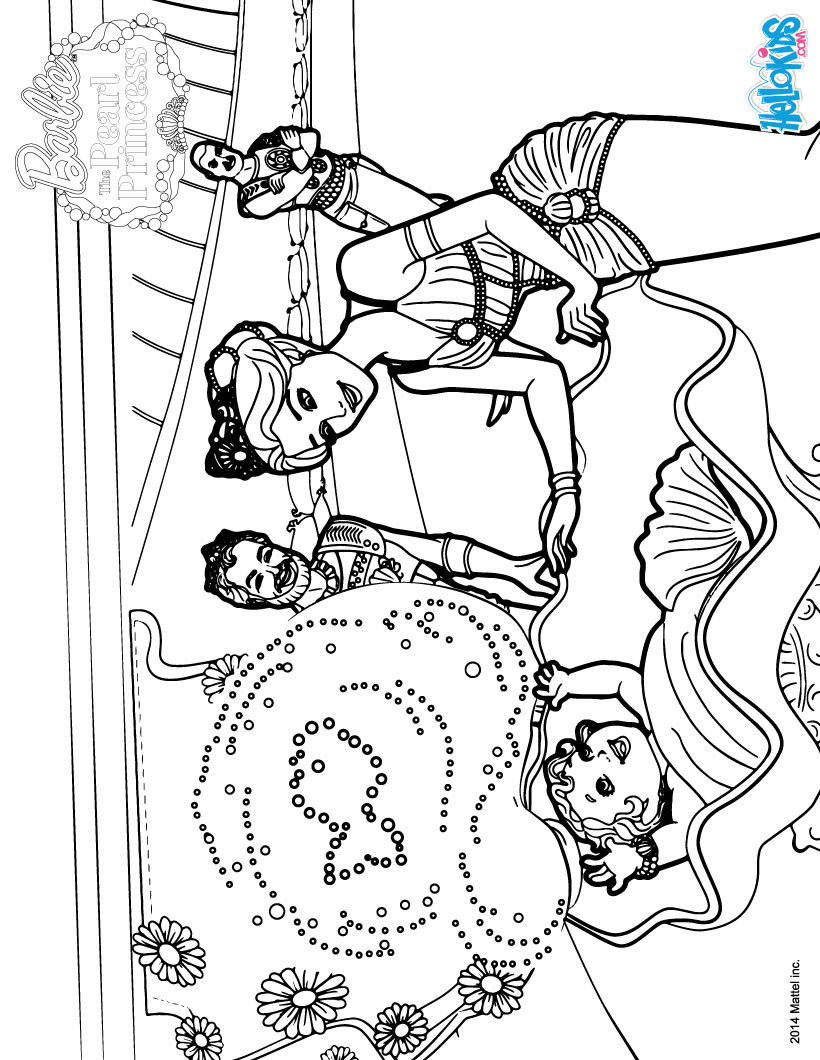 mermaid royal family coloring pages  hellokids