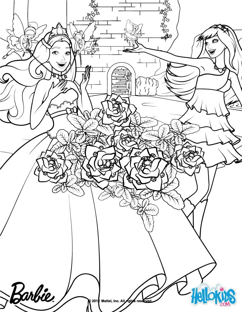 Barbie Princess Power Coloring Pages Barbie In Princess Power