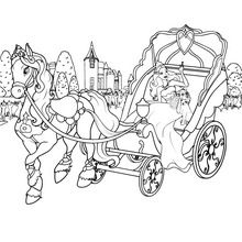 Toris Horse Drawn Carriage Coloring Pages