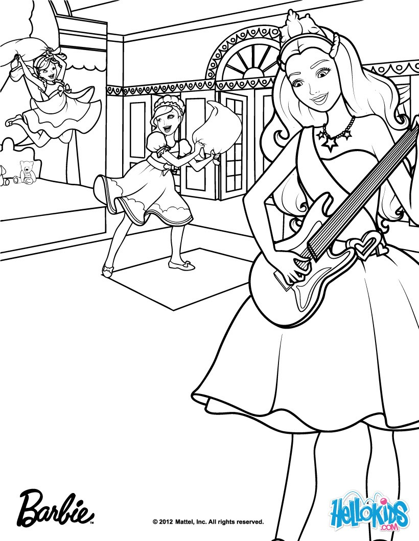 barbie the princess amp the popstar coloring pages coloring for girls
