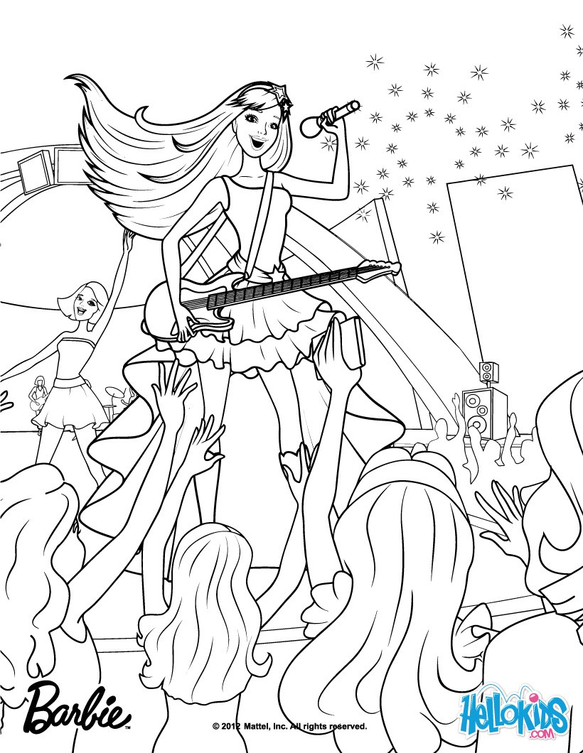 barbie the princess amp the popstar coloring pages keira the popstar