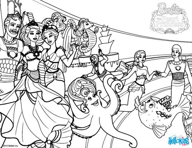 barbie the pearl princess coloring pages seaworld creatures