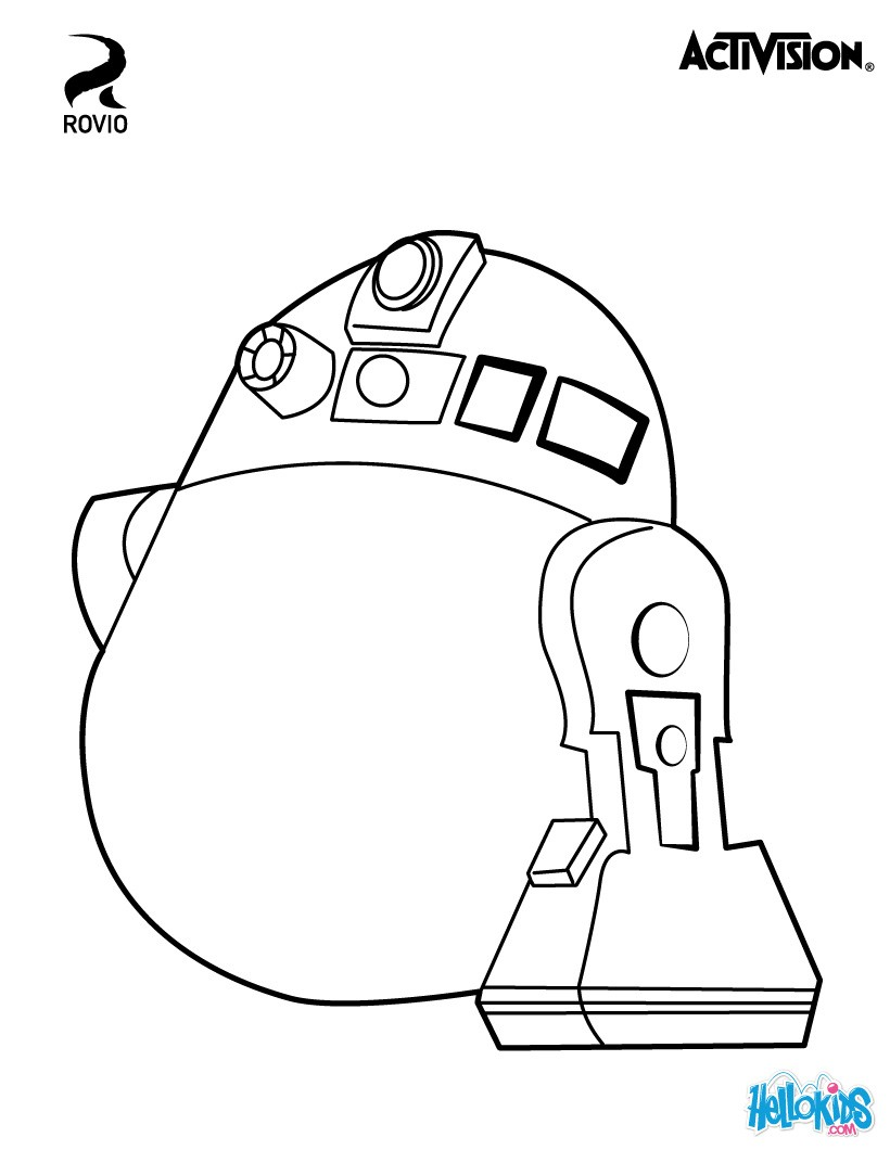 angry birds star wars coloring pages r2 d2