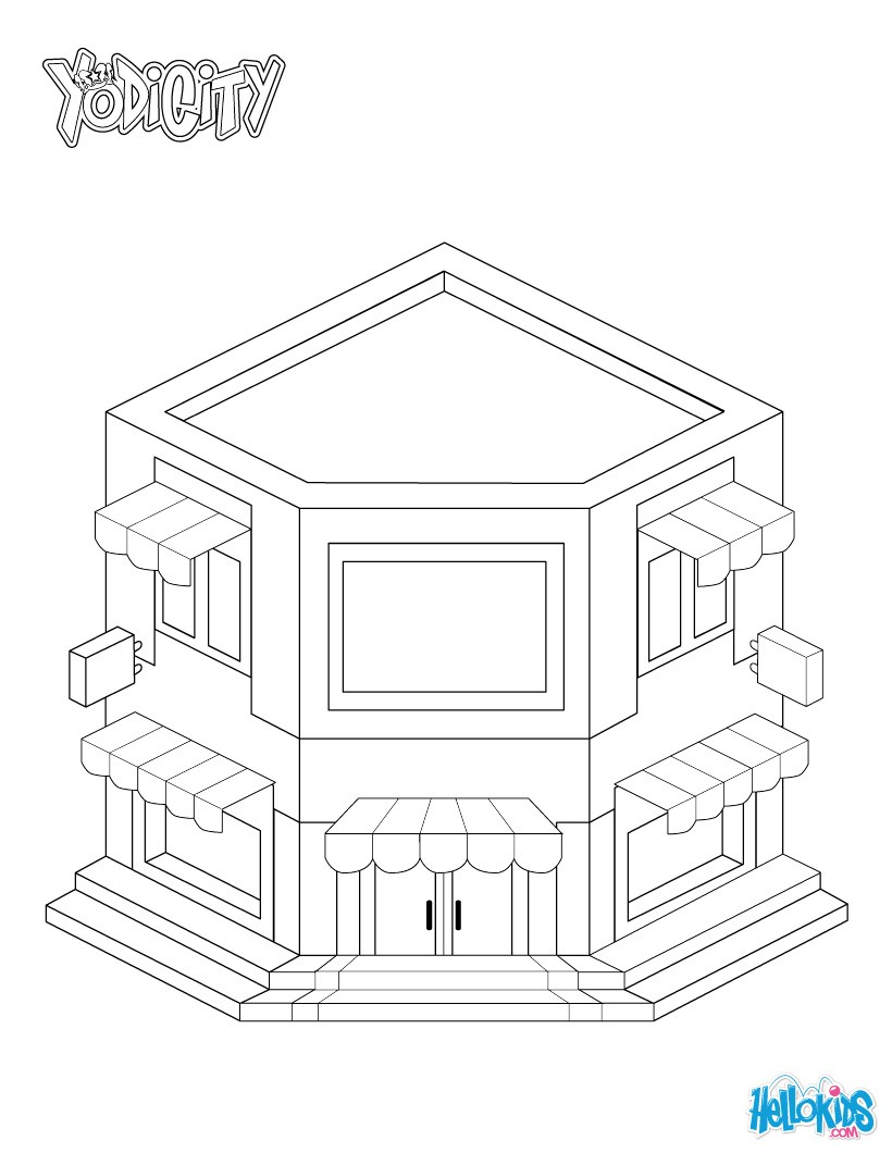 yeti ice cream restaurant coloring pages  hellokids