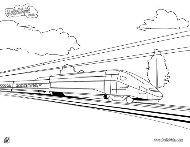 train coloring pages high speed