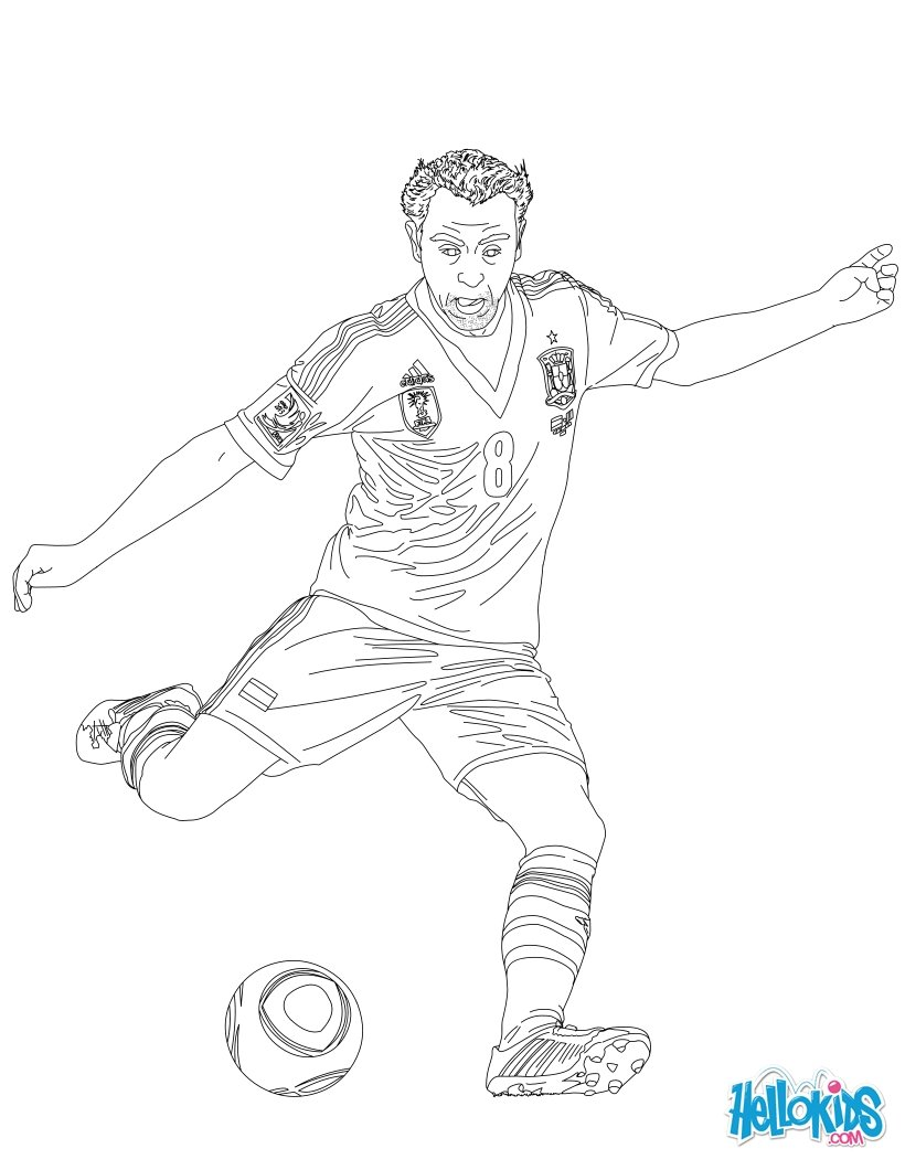 soccer players coloring pages xavi