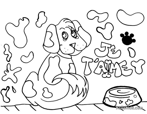 dog coloring pages puppy