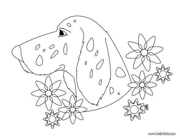 dog coloring pages dog head