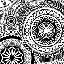 adult coloring pages rosette intricate patterns
