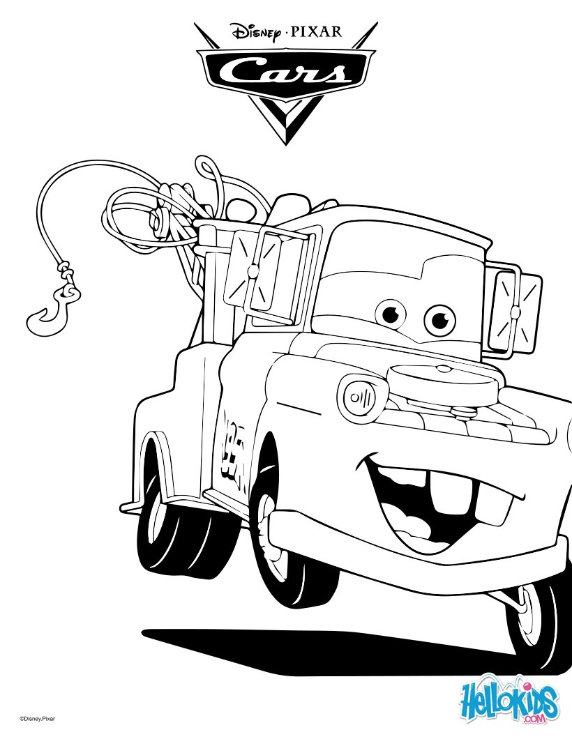cars coloring pages mater the tow truck