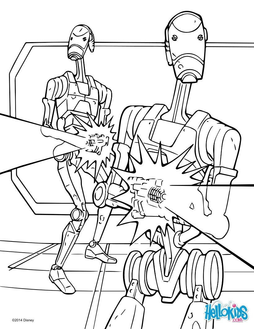 star wars coloring pages star wars battle droids