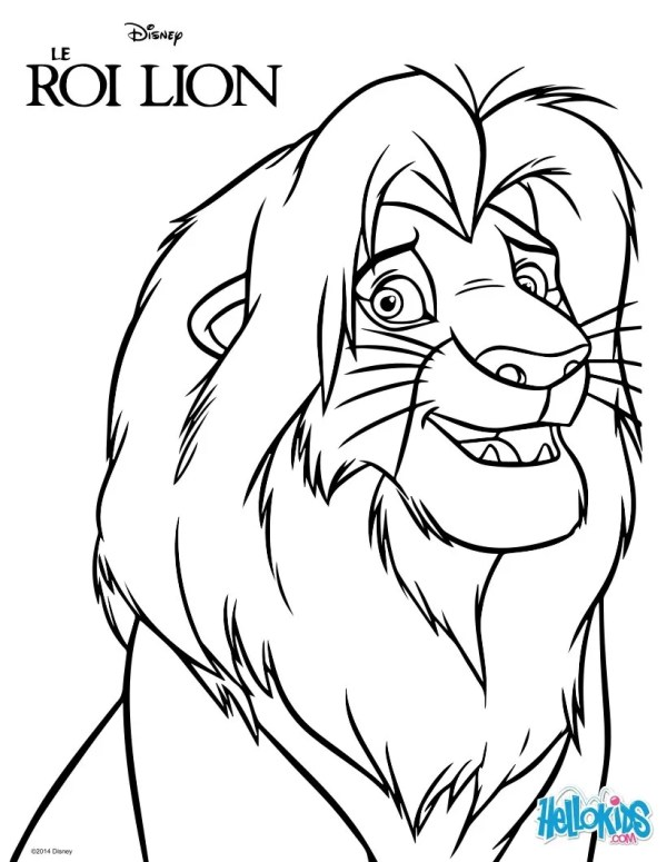 simba coloring page # 4