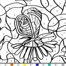 animal color by number coloring pages big butterfly