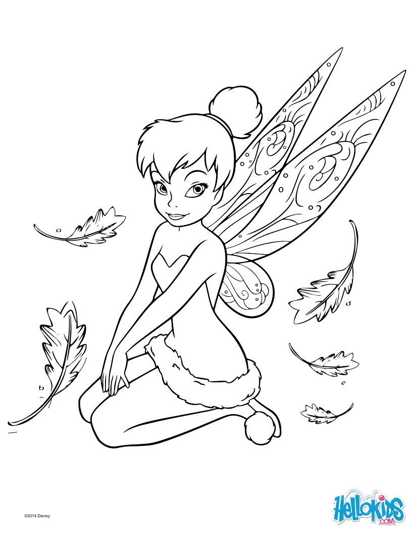 disney coloring pages tinker bell