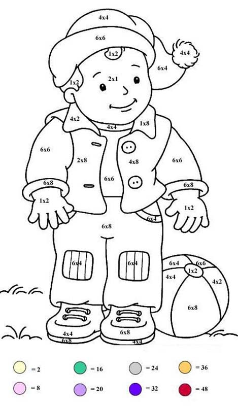 Little Boy With Balloon Coloring Pages