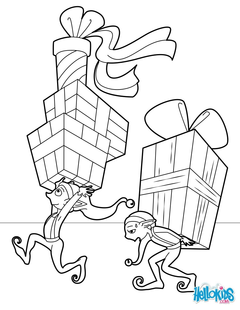 Elf Coloring Pages Drawing For Kids Reading Learning Kids