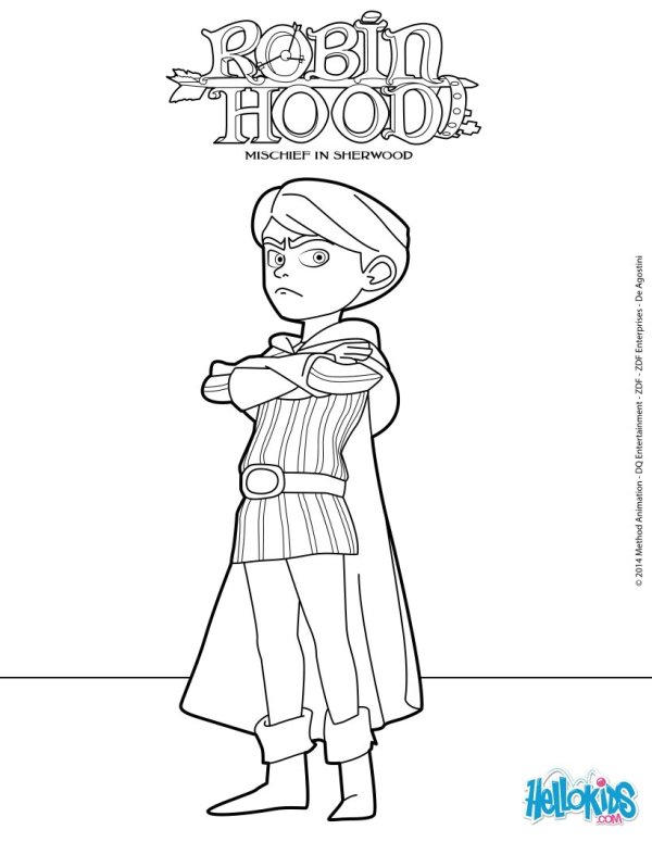 robin hood coloring pages # 9